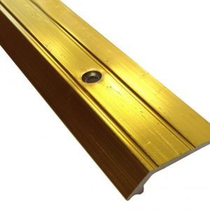 3ft Vinyl Edge Ramp - Wood Laminate Tile 4mm Variation in Height Doorbar Metal