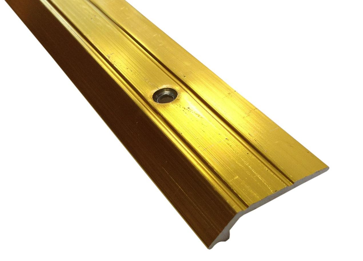 3ft Vinyl Edge Ramp - Wood Laminate Tile 4mm Variation in Height Doorbar Metal