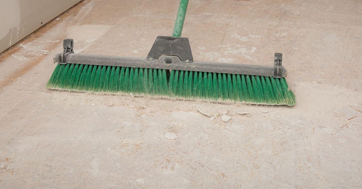 Subfloor being swept